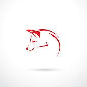 Fox sign - vector illustration