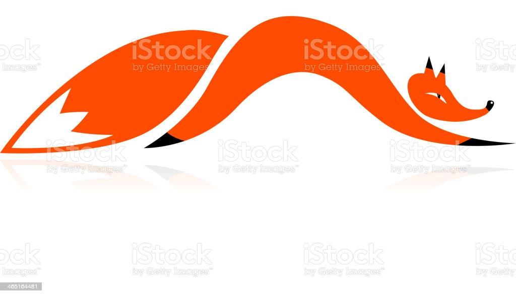 Fox modèle pour votre design - Illustration vectorielle
