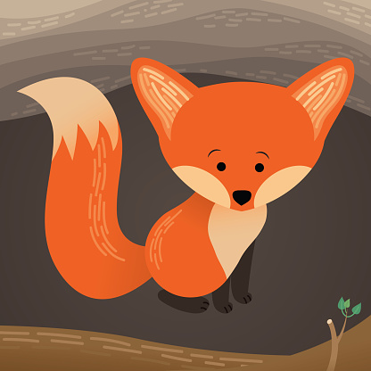 Fox Sits in its Den