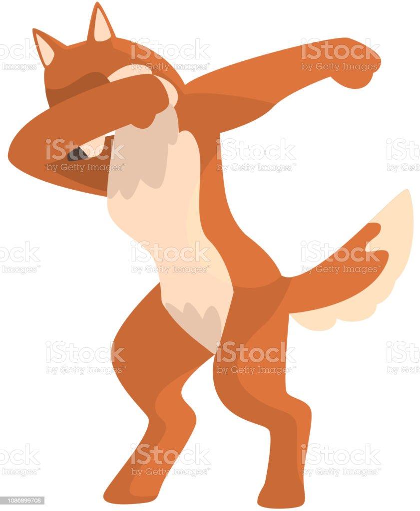 Renard Debout En Dub Danse Pose Animal Sauvage Dessin Anime Mignon Faire Doublage Vector Illustration Sur Fond Blanc Vecteurs Libres De Droits Et Plus D Images Vectorielles De Artiste De Spectacle Istock