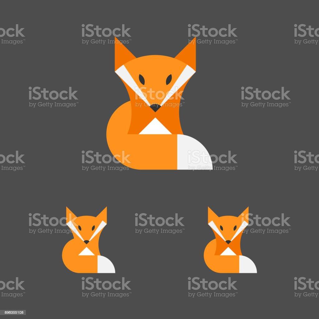 Plantilla de Fox. Logotipo conjunto. Animal emblema. Vector. - ilustración de arte vectorial