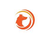 Fox vector illustration silhouette icon design