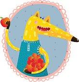 Fox with Apples Portrait