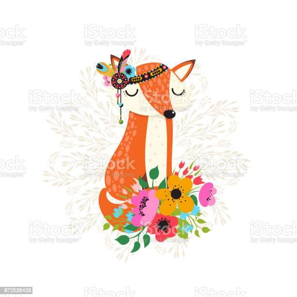 Fox with flowers in cartoon style vector id872538438?b=1&k=6&m=872538438&s=612x612&h=wr9sueew9xwxr0a4navqawwzm4ynwz9tujg1ecnqwg4=