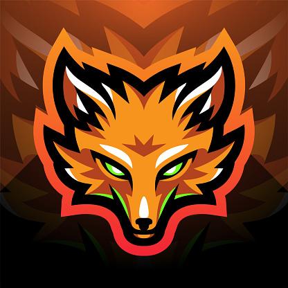 Foxes head sport mascot