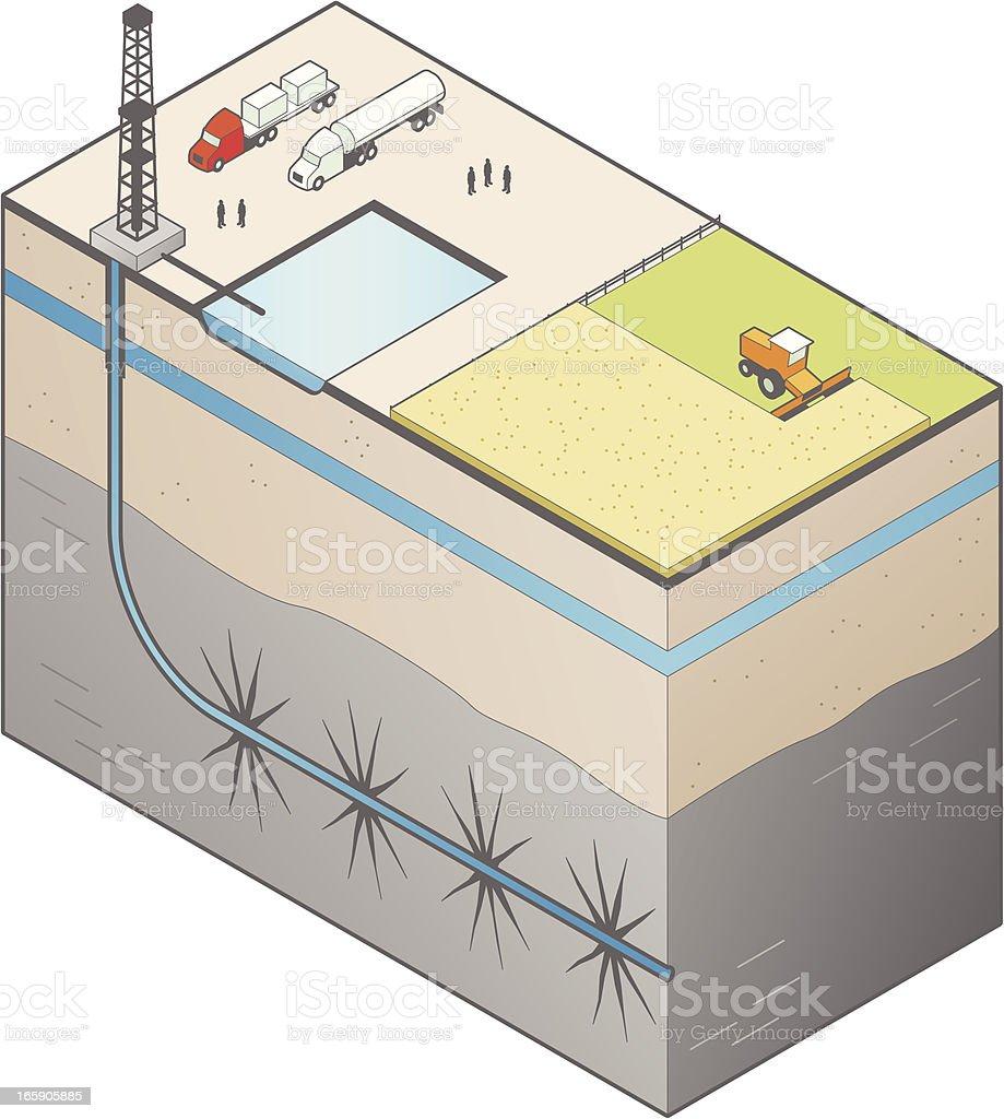 Fracking Illustration royalty-free fracking illustration stock vector art & more images of cereal plant