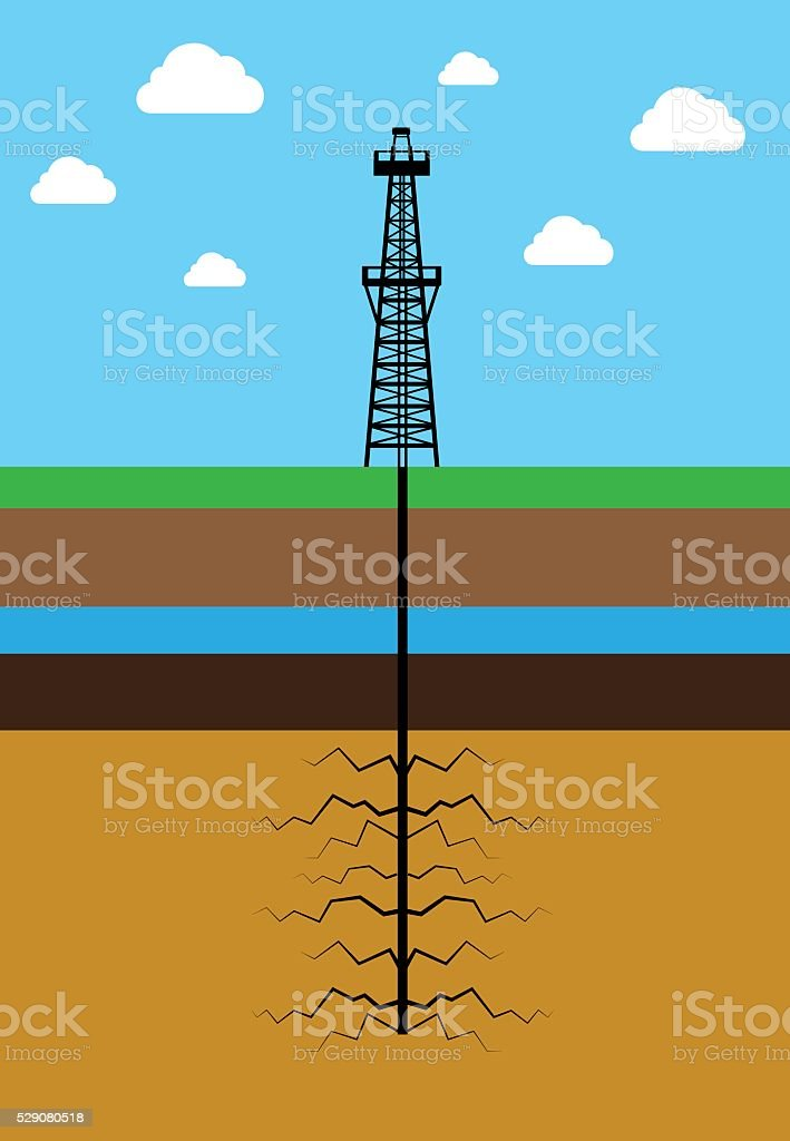 Royalty Free Hydraulic Fracturing Clip Art  Vector Images