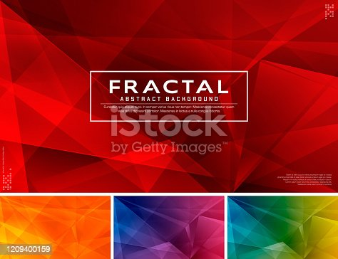 Modern fractal abstract background. Low poly and fractal vector background series, applicable for web background, design element ,wall poster, landing page, wall paper, and social media element