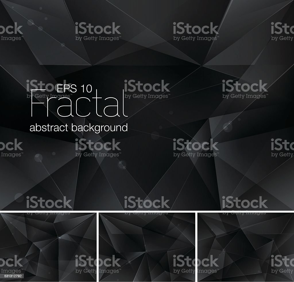 fractal abstract background vector art illustration
