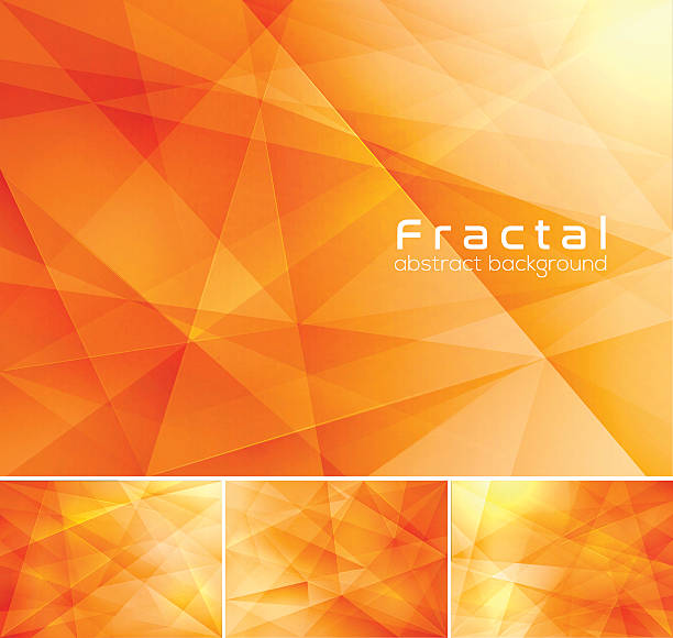 fractal abstract background - orange color stock illustrations, clip art, cartoons, & icons