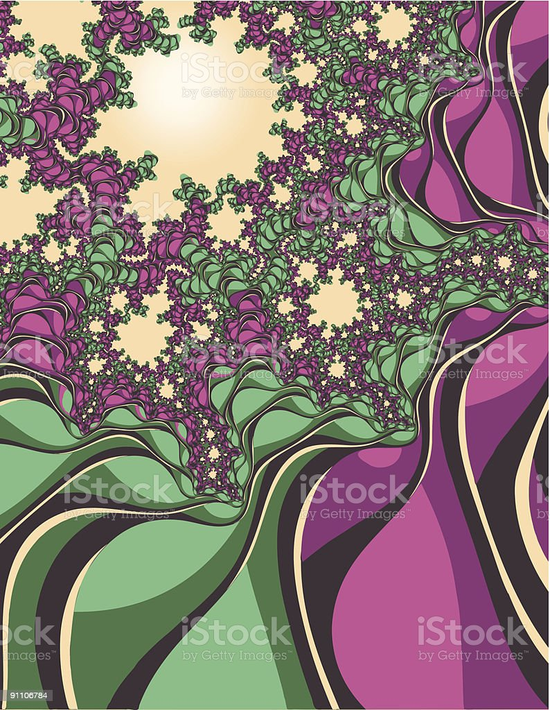 fractal flowering trees royalty-free stock vector art