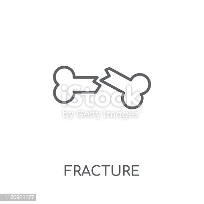 Fracture linear icon. Modern outline Fracture logo concept on white background from Insurance collection. Suitable for use on web apps, mobile apps and print media.