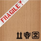 Cardboard and tape background. Layered EPS10 with global colors and transparencies. Individual textures and elements. Hi-res JPG and AICS3 files included. Related images linked below. http://i161.photobucket.com/albums/t234/lolon5/packagingelements_zps82cd4008.jpg
