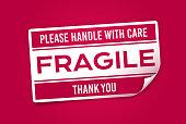 istock Fragile Sticker 1253259521