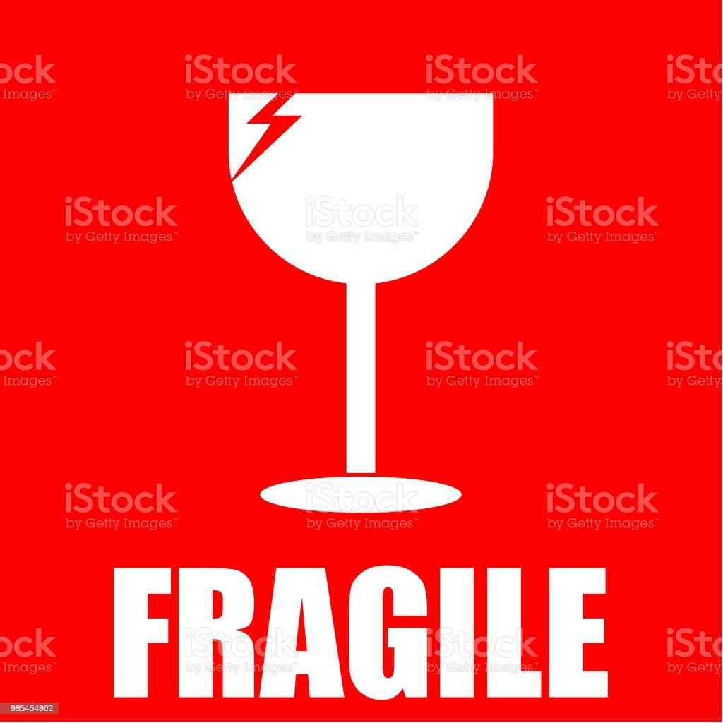 Fragiel sticker royalty free fragiel sticker stockvectorkunst en meer beelden van achtergrond thema