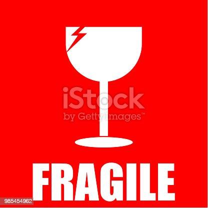 fragile, sticker