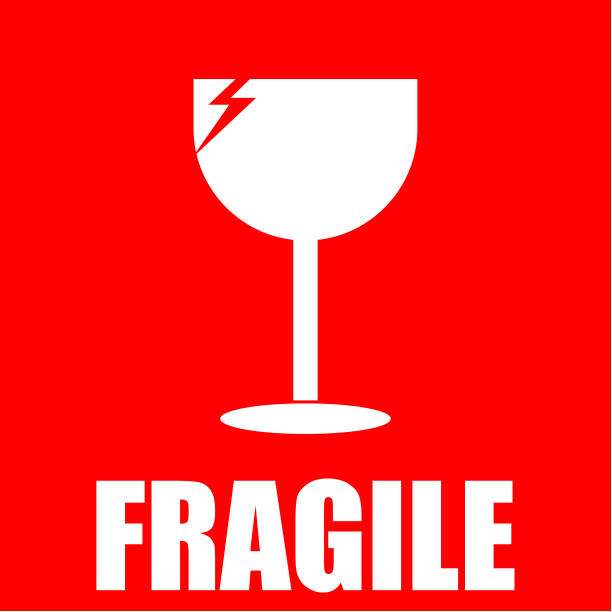 fragile, sticker fragile, sticker fragility stock illustrations