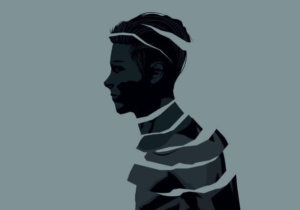 Fragments Of A Man - Wohlfühlkonzept – Vektorgrafik