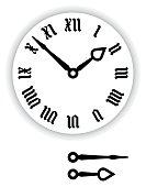Fraktur Roman numerals clock face