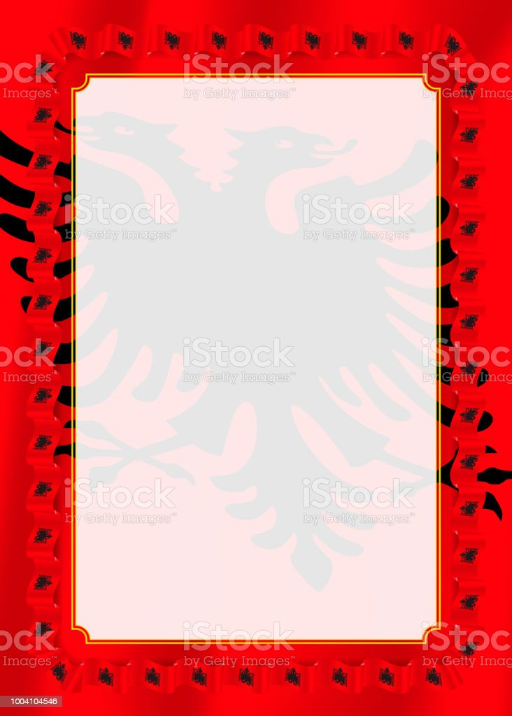 frame and border of ribbon with adygea flag template elements for