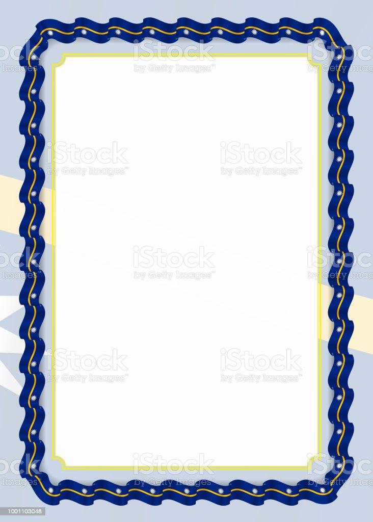 Frame and border of ribbon with nauru flag template elements for frame and border of ribbon with nauru flag template elements for your certificate and diploma yelopaper Image collections