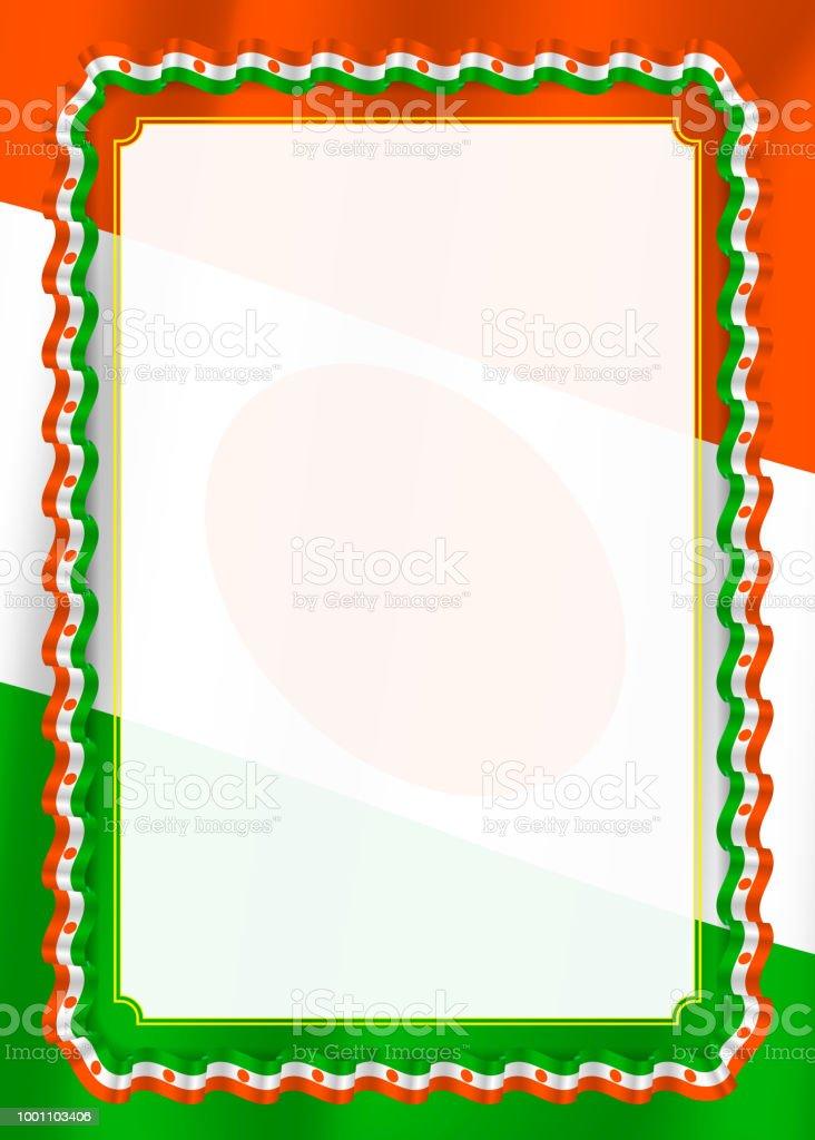 Rahmen Und Rand Des Bandes Mit Niger Flagge Vorlagenelemente Für Ihr ...