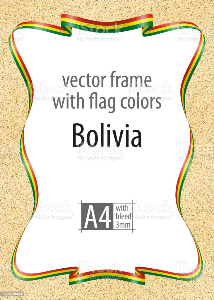 Ilustración de Marco Y Borde De Cinta Con Los Colores De La Bandera ...