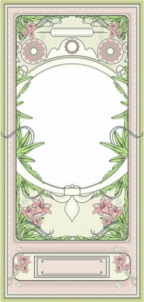 Frame art-deco PINK LILIES