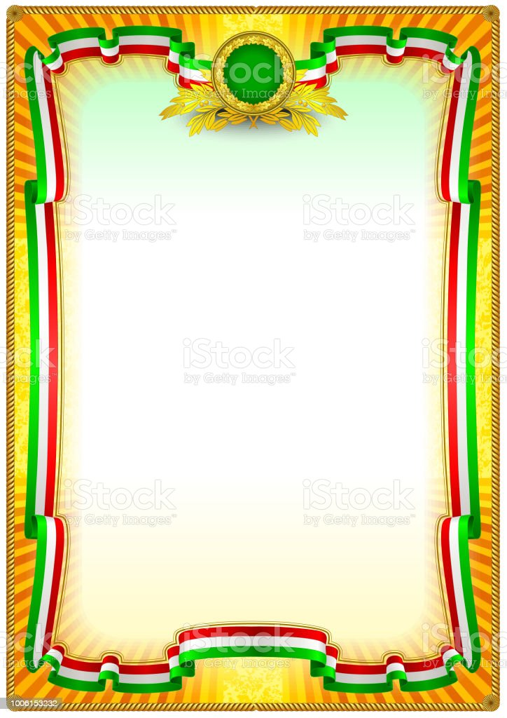 Frame Border Template Stock Vector Art More Images Of Achievement