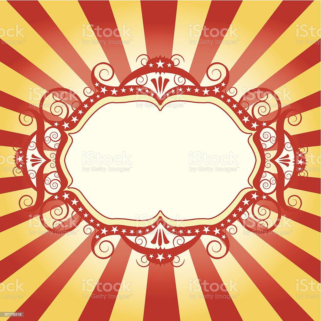 Frame circus flyer royalty-free stock vector art
