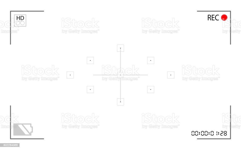 Ilustración de Marco Digital Cámara De Vídeo Enfoque Aislado Sobre ...
