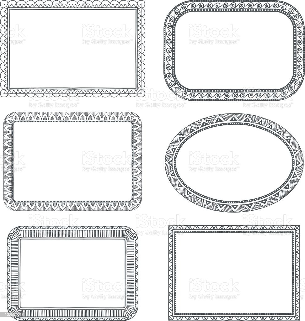 Cornici Disegno Bianco E Nero.Frame Drawings Stock Illustration Download Image Now Istock