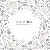 light tone elegant background design with natural elements like leaves and flowers