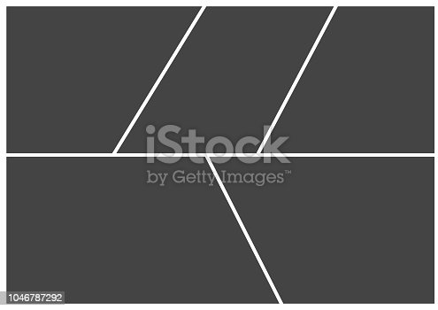 Frame for photo collage or picture vector illustration. Template frame for photo.  Layers grouped for easy editing illustration. For your design.