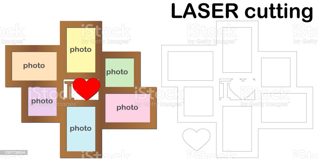 Frame For Photos For Laser Cutting Collage Of Photo Frames Template ...