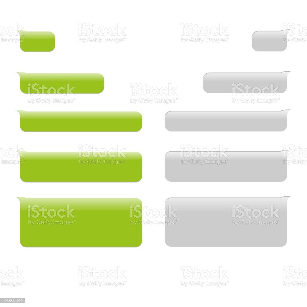 Rahmen für Text-Sms-flaches Design-Vektor-Symbol-illustration – Vektorgrafik