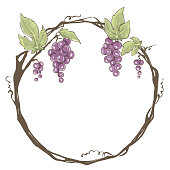 Frame from grapes