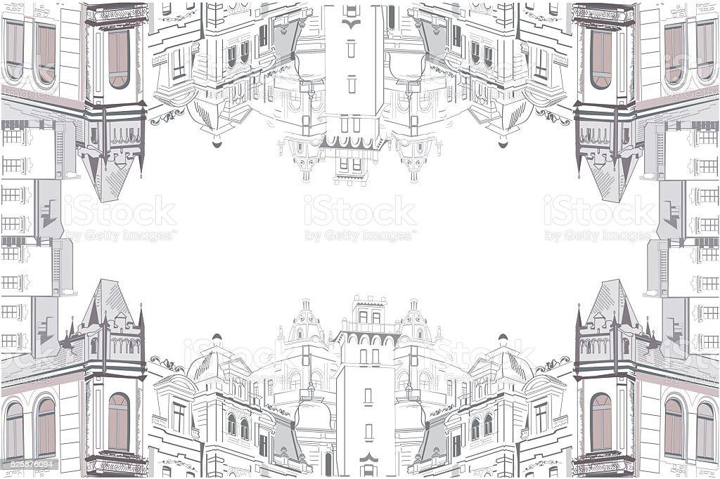 Marco De La Vista De La Ciudad Antigua - Arte vectorial de stock y ...