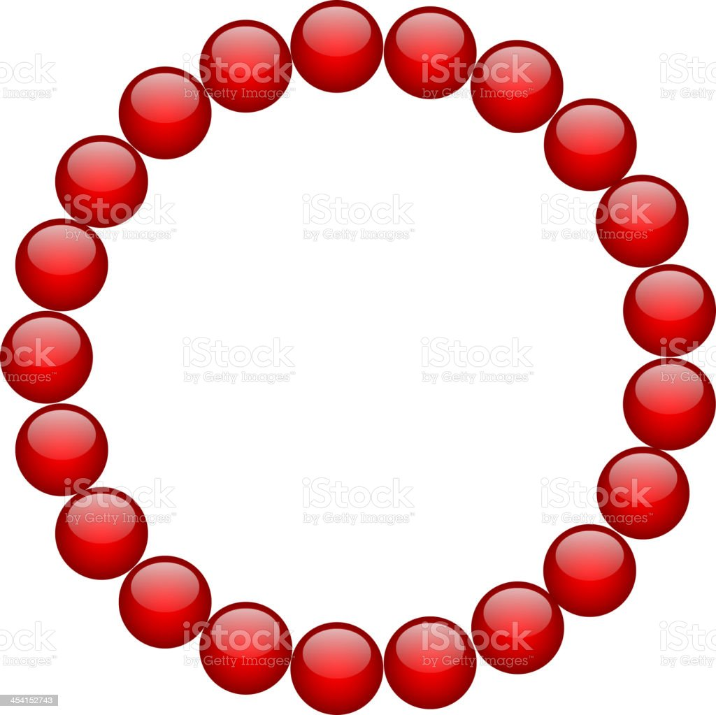 frame from red beads royalty-free stock vector art