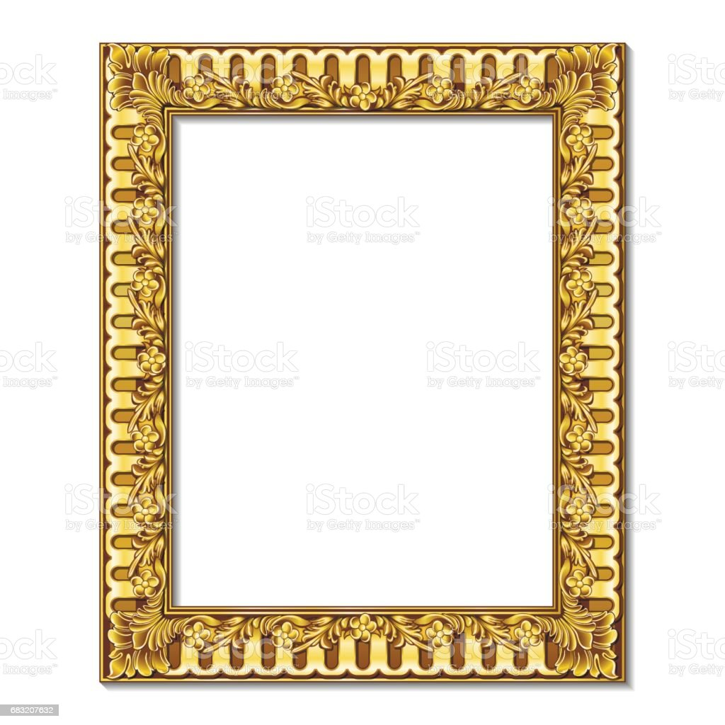 frame gold color with shadow frame gold color with shadow - arte vetorial de stock e mais imagens de antigo royalty-free