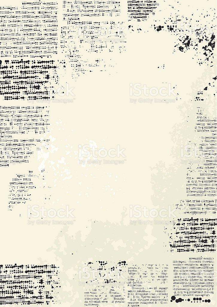 Moldura grunge - ilustração de arte em vetor