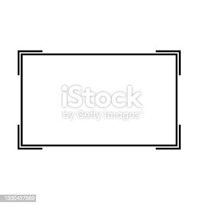 istock frame icon on white background. frame border line sign. vintage frame symbol. flat style. 1330457569