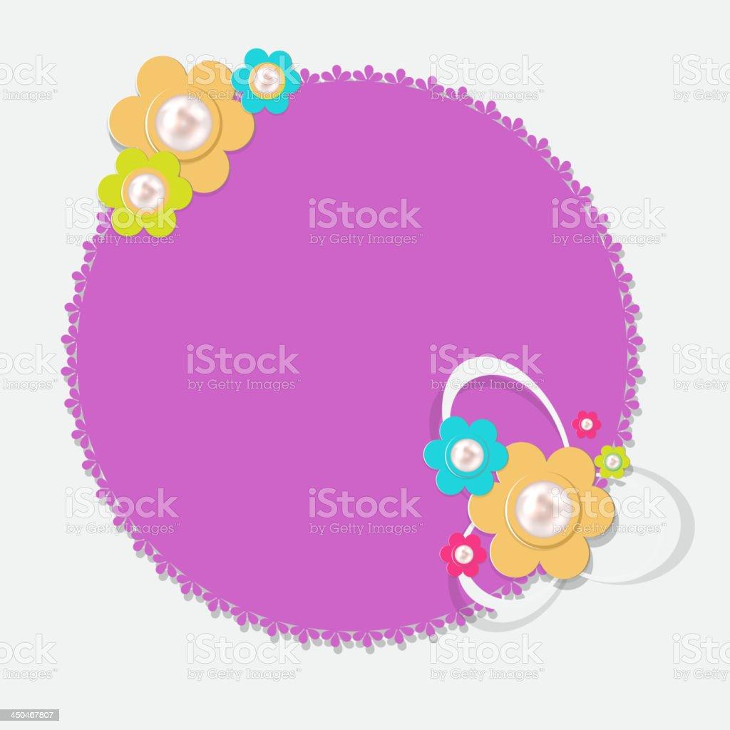 Frame in retro vintage background. Vector illustration. royalty-free frame in retro vintage background vector illustration stock vector art & more images of african violet