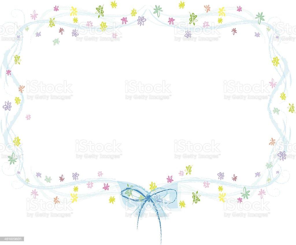 frame in spring,flower pattern royalty-free stock vector art