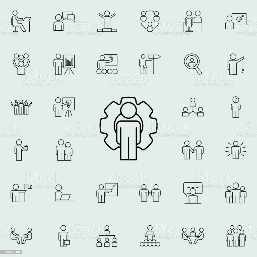 Frame Mechanism Icon Business Organisation Icons Universal