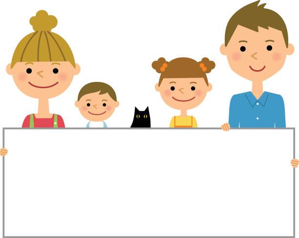 フレームのファミリー - 母娘 笑顔 日本人点のイラスト素材/クリップアート素材/マンガ素材/アイコン素材