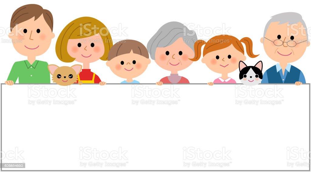 Ilustración de Marco De Una Familia y más banco de imágenes de ...