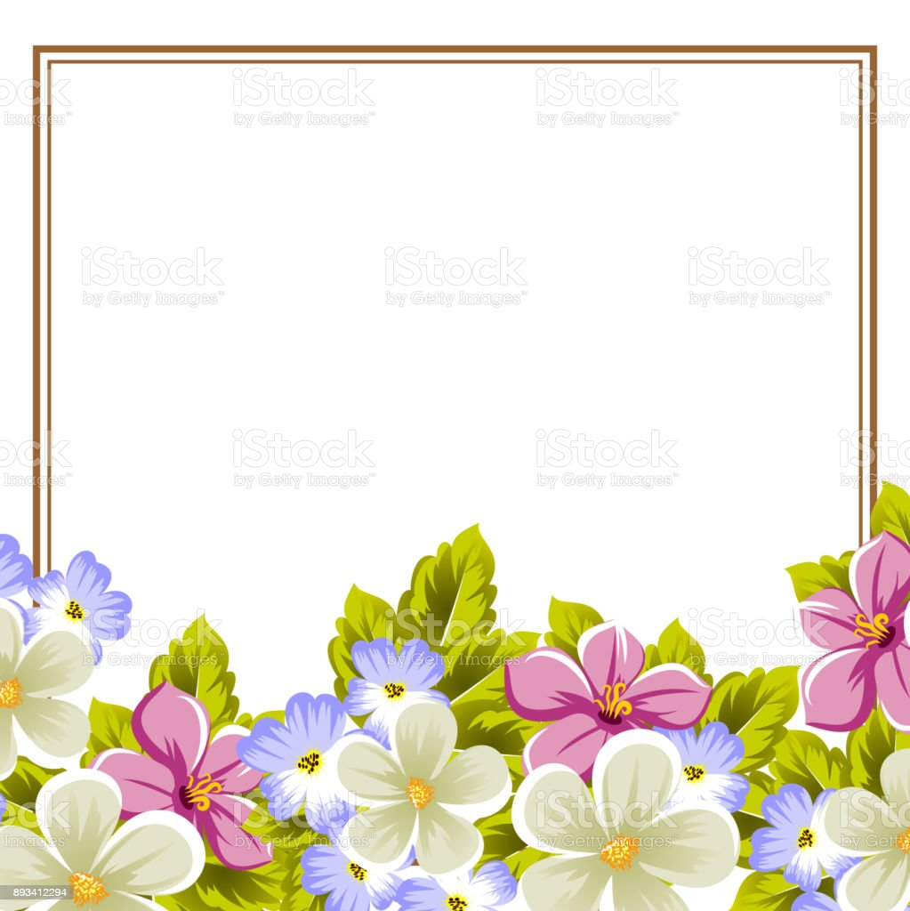 Frame of a few flowers for design of cards invitations greeting for frame of a few flowers for design of cards invitations greeting for birthday izmirmasajfo