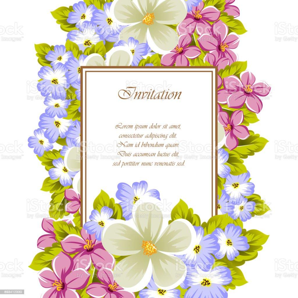 Ilustración De Marco De Unas Flores Para El Diseño De