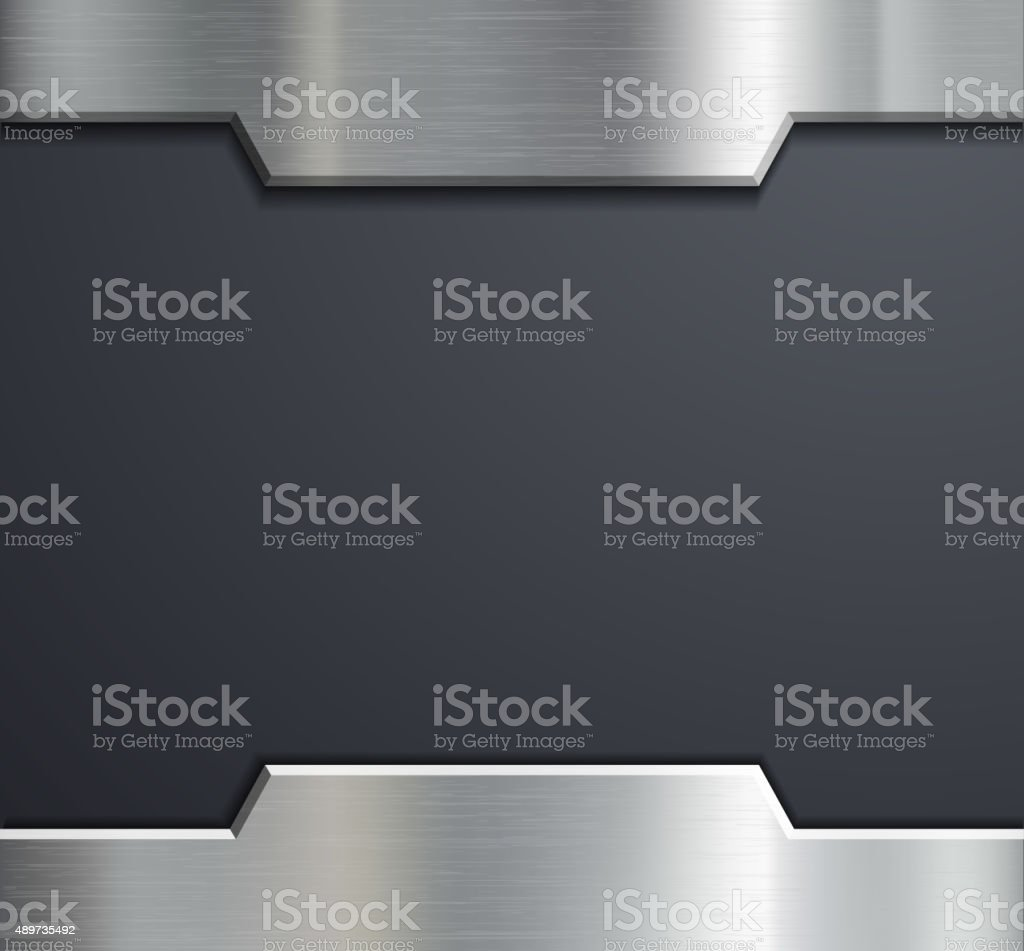 Frame of a metal plate. vector art illustration